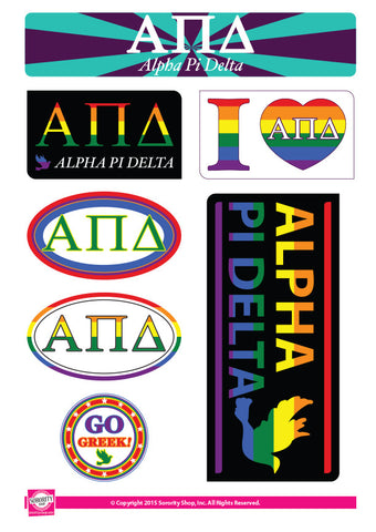 Alpha Pi Delta <br> Pride Stickers