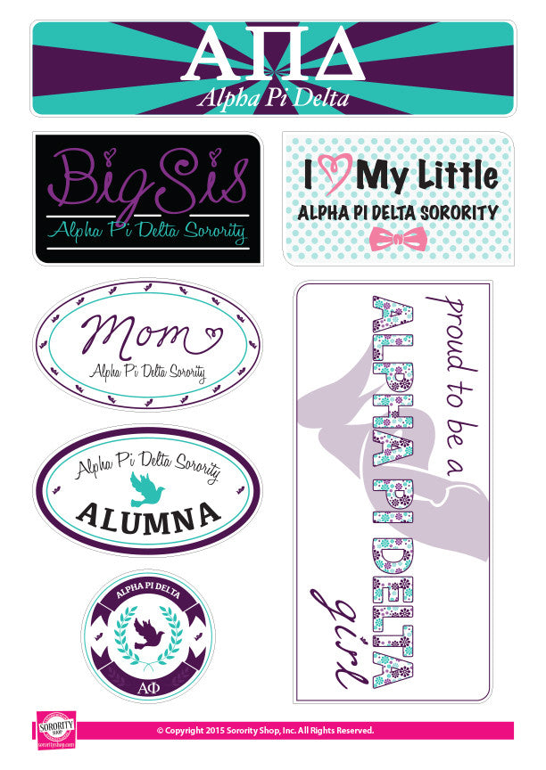 Alpha Pi Delta <br> Family Stickers