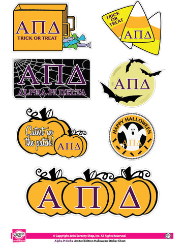 Alpha Pi Delta Halloween Stickers