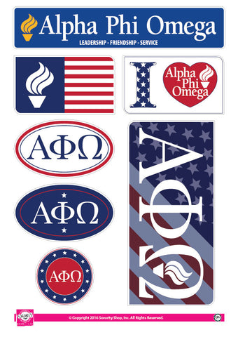 Alpha Phi Omega <br> American Stickers