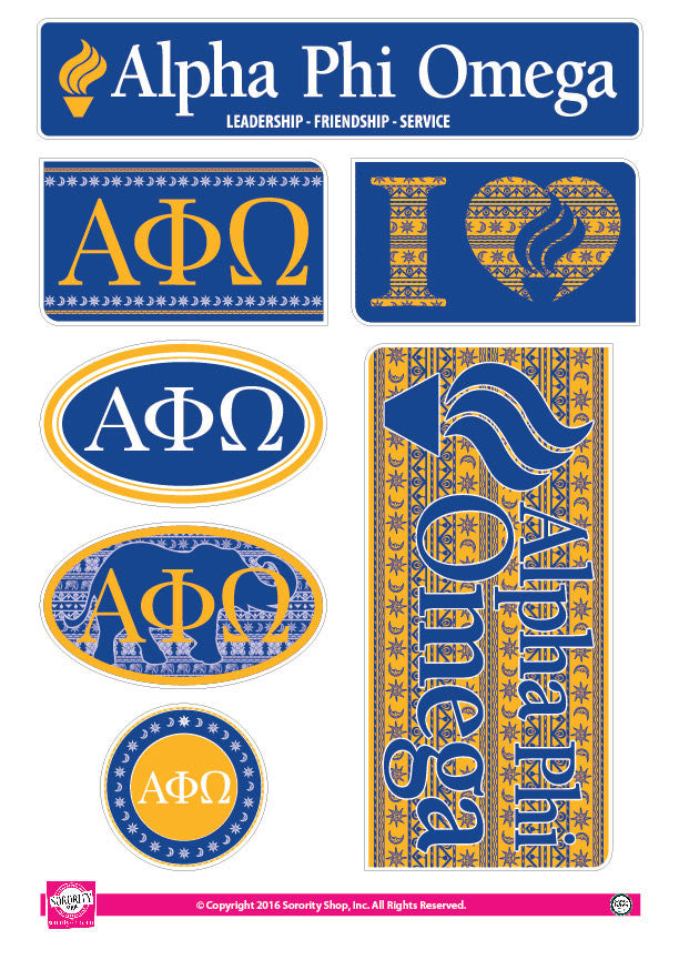 Alpha Phi Omega <br> Bohemian Stickers