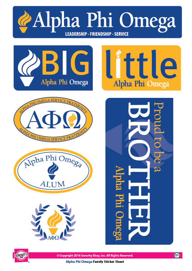 Alpha Phi Omega <br> Family Stickers