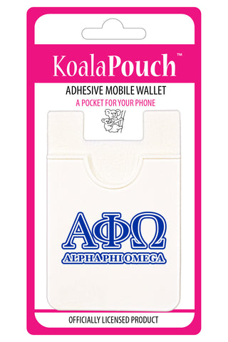 Alpha Phi Omega<br> Koala Pouch<br>Adhesive wallet for your phone