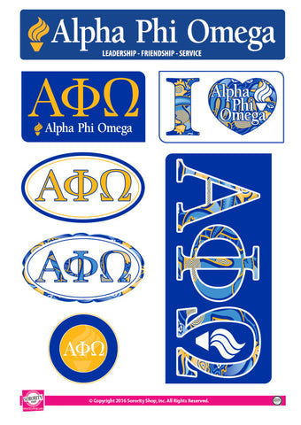 Alpha Phi Omega <br> Lifestyle Stickers
