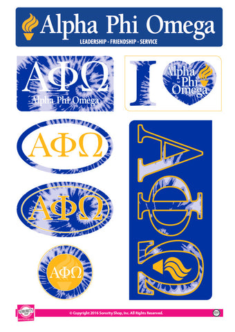 Alpha Phi Omega <br> Tie Dye Stickers