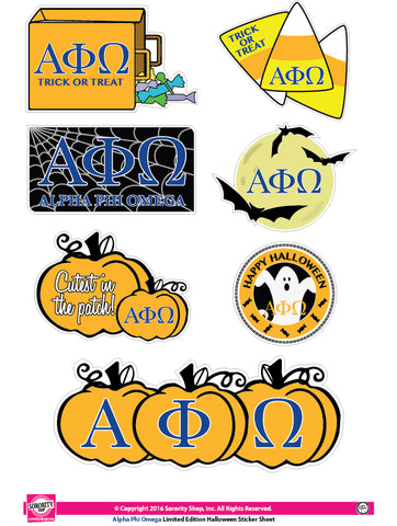 Alpha Phi Omega Halloween Stickers