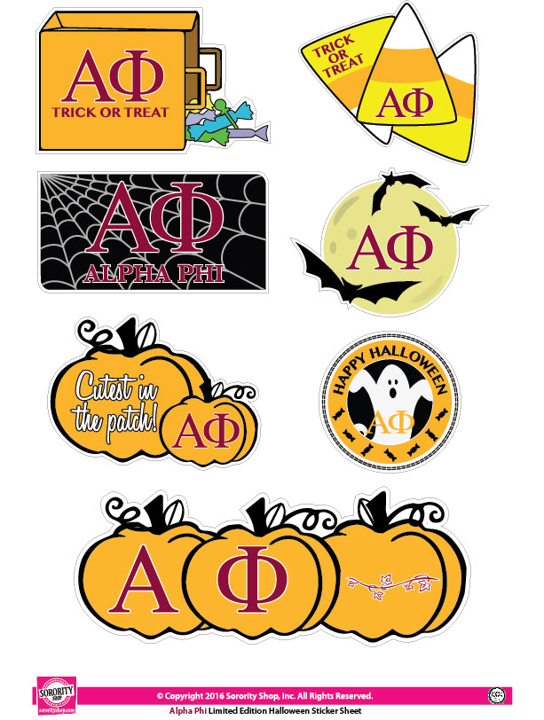 Alpha Phi <br> Halloween Stickers