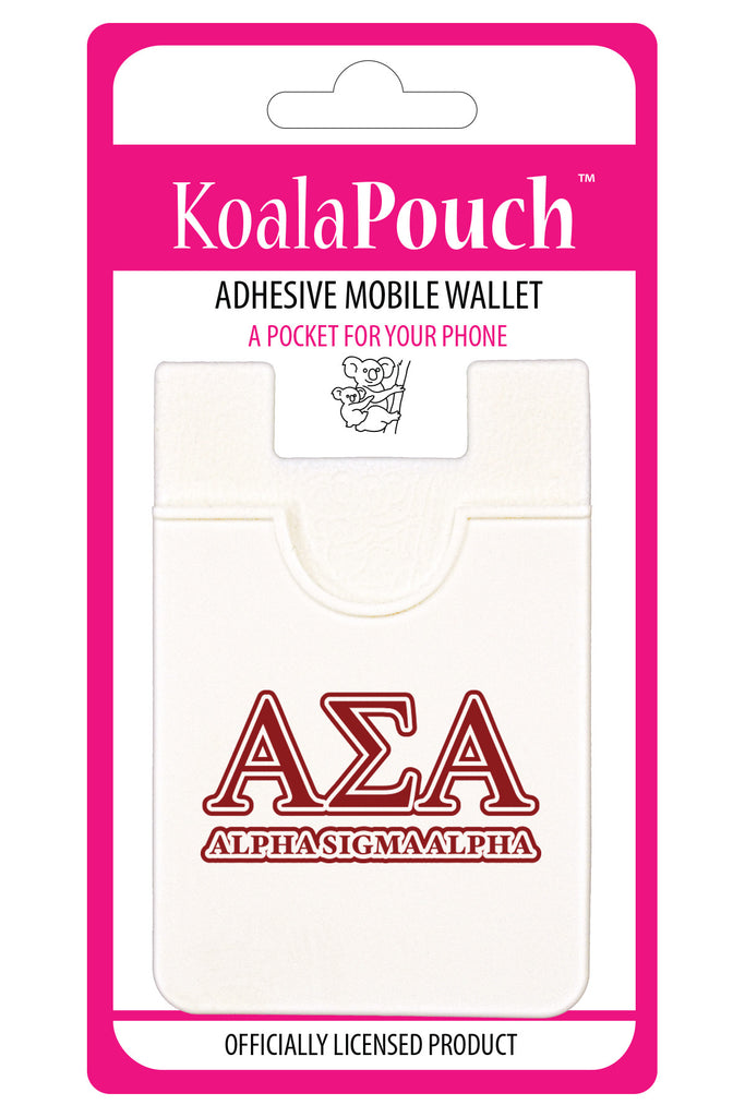 Alpha Sigma Alpha<br> Koala Pouch<br>Adhesive wallet for your phone