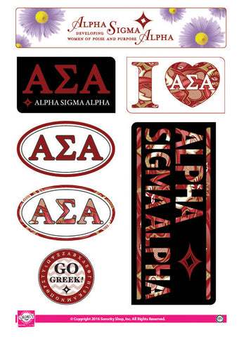 Alpha Sigma Alpha <br> Lifestyle Stickers