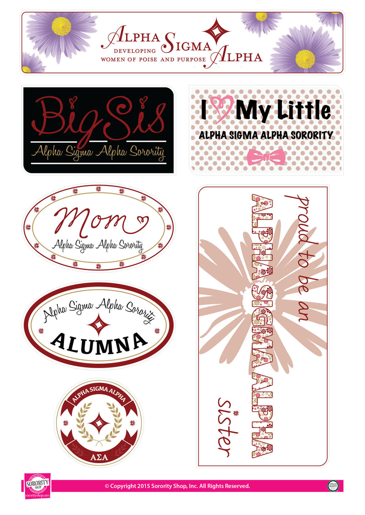 Alpha Sigma Alpha <br> Family Stickers
