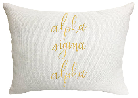 Alpha Sigma Alpha Throw Pillow