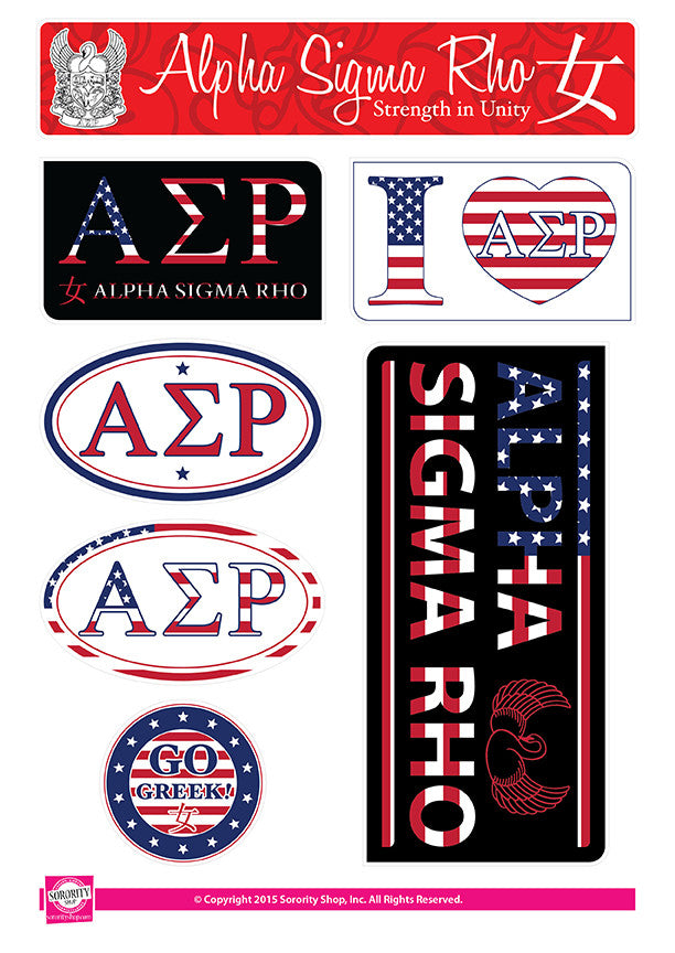 Alpha Sigma Rho <br> American Stickers
