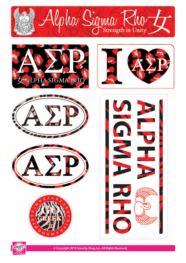 Alpha Sigma Rho <br> Animal Print Stickers