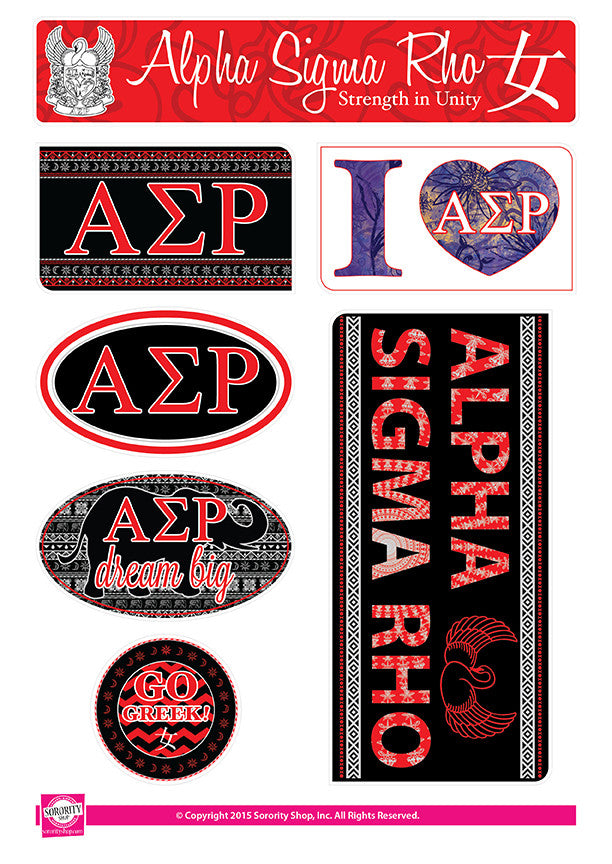 Alpha Sigma Rho <br> Bohemian Stickers