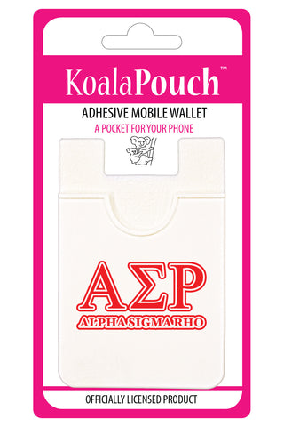 Alpha Sigma Rho <br> Koala Pouch<br>Adhesive wallet for your phone