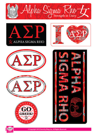 Alpha Sigma Rho <br> Lifestyle Stickers