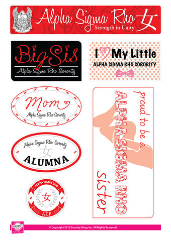 Alpha Sigma Rho <br> Family Stickers