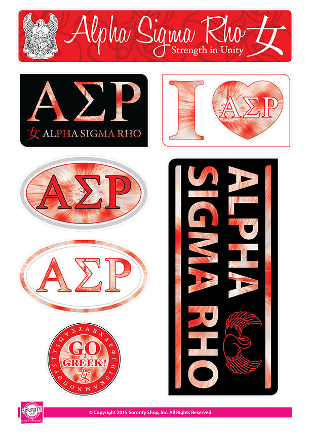 Alpha Sigma Rho <br> Tie Dye Stickers