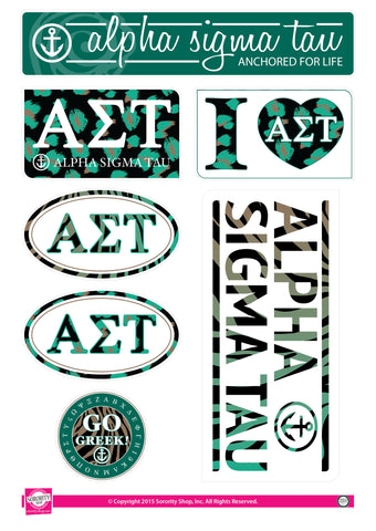 Alpha Sigma Tau <br> Animal Print Stickers