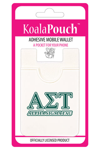 Alpha Sigma Tau<br> Koala Pouch<br>Adhesive wallet for your phone