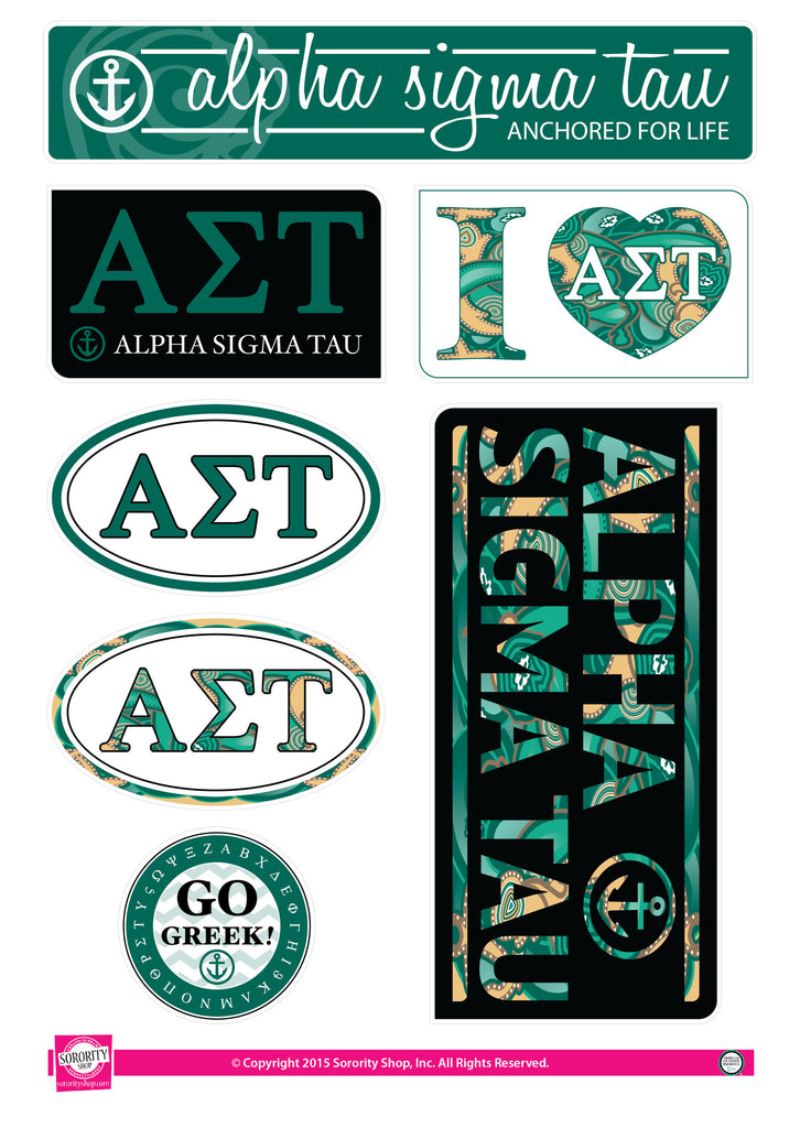 Alpha Sigma Tau <br> Lifestyle Stickers