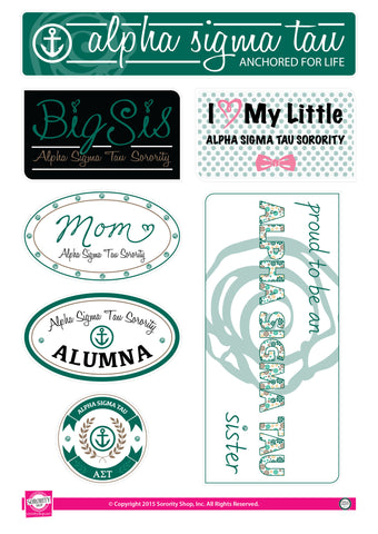 Alpha Sigma Tau <br> Family Stickers