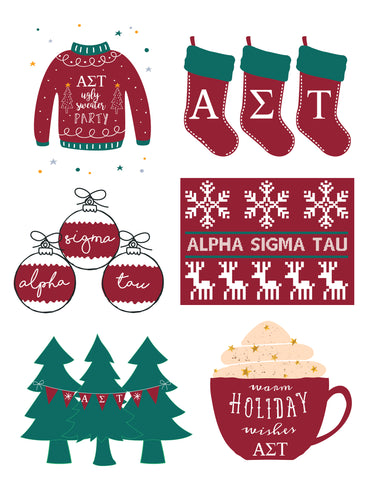 Alpha Sigma Tau <br> Holiday Sticker Sheet