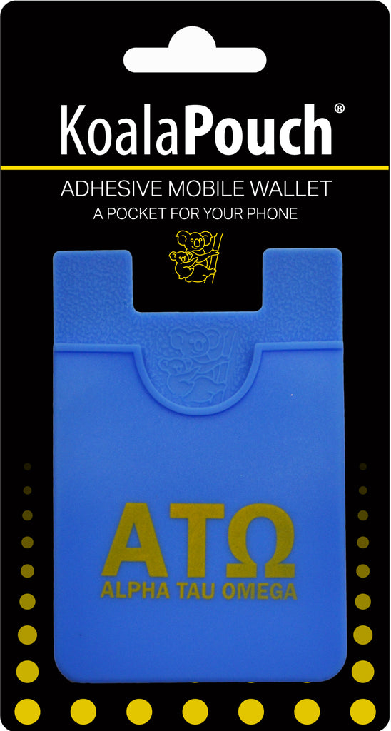 Alpha Tau Omega <br> Koala Pouch<br>Adhesive wallet for your phone