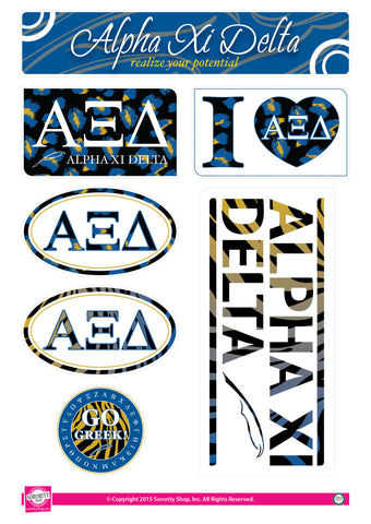 Alpha Xi Delta <br> Animal Print Stickers