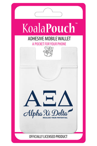 Alpha Xi Delta<br> Koala Pouch<br>Adhesive wallet for your phone