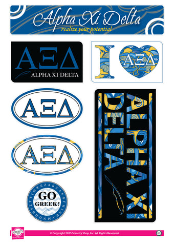 Alpha Xi Delta <br> Lifestyle Stickers