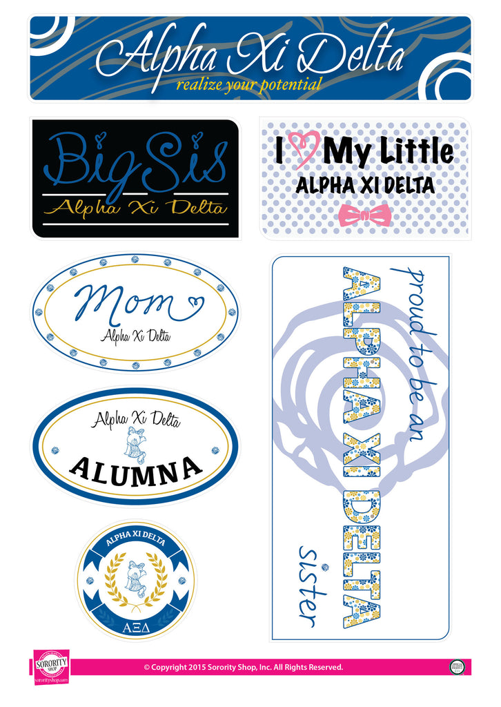 Alpha Xi Delta <br> Family Stickers