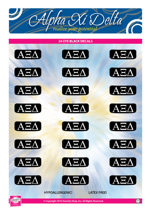 Alpha Xi Delta Eye Black Decals