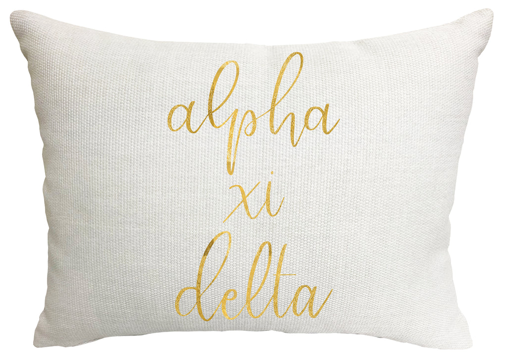 Alpha Xi Delta Throw Pillow