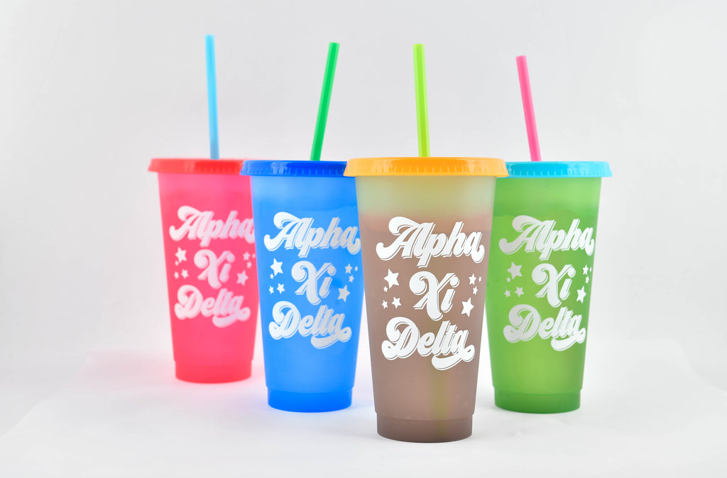 Alpha Xi Delta Color Changing Cups (Set of 4)