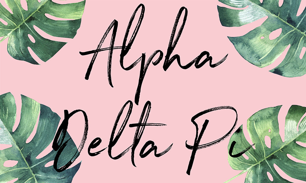 Alpha Delta Pi Tropical Flag