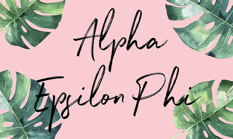 Alpha Epsilon Phi Tropical Flag