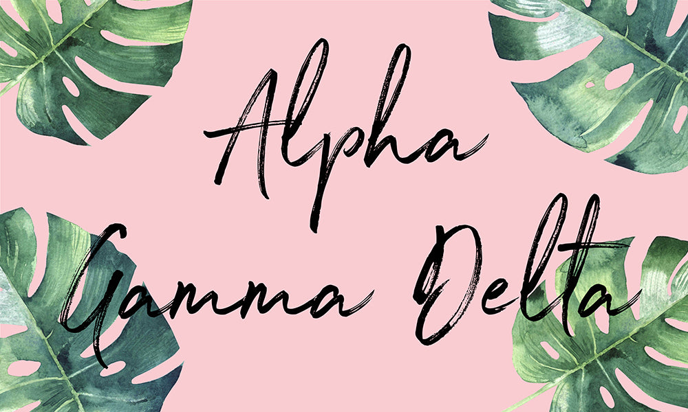 Alpha Gamma Delta Tropical Flag
