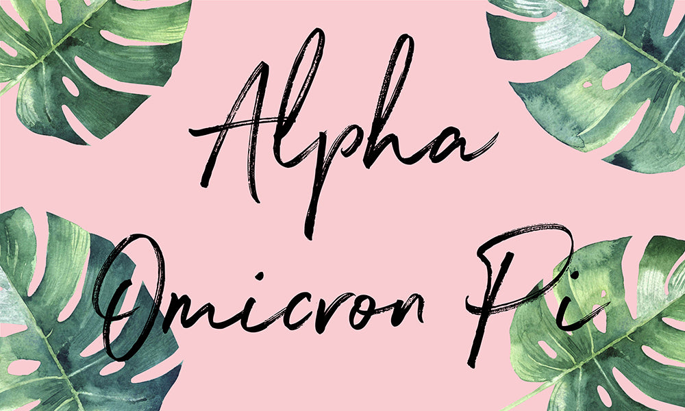 Alpha Omicron Pi Tropical Flag