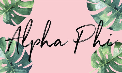 Alpha Phi Tropical Flag