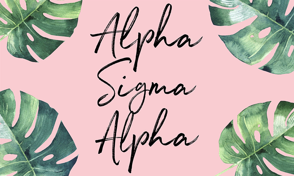 Alpha Sigma Alpha Tropical Flag