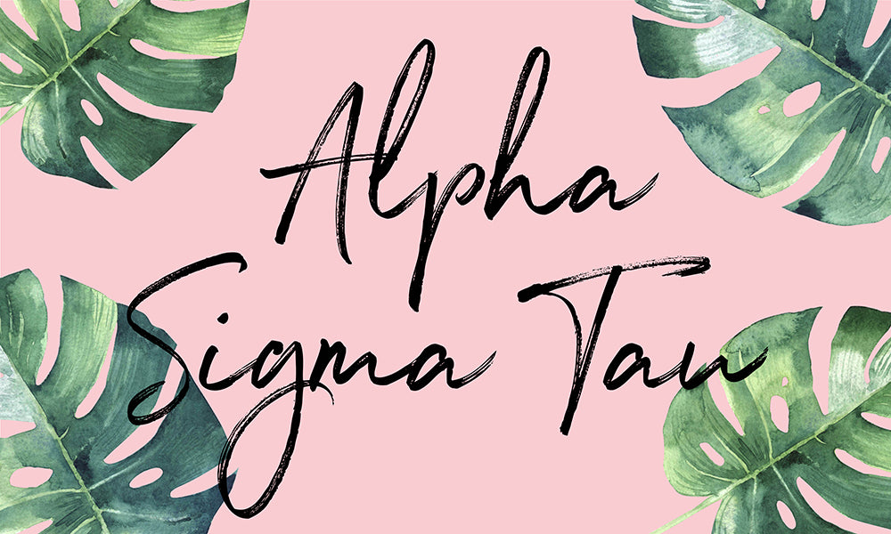 Alpha Sigma Tau Tropical Flag