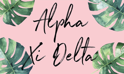 Alpha Xi Delta Tropical Flag