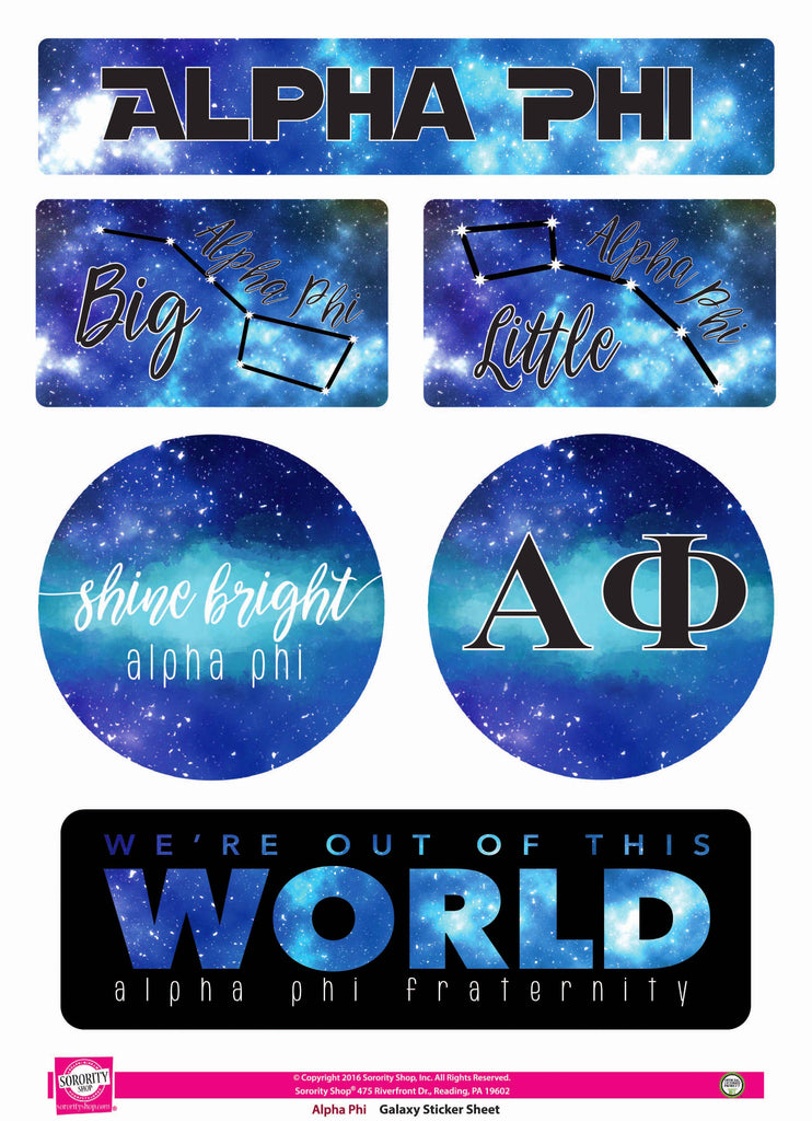 Alpha Phi <br> Galaxy Stickers