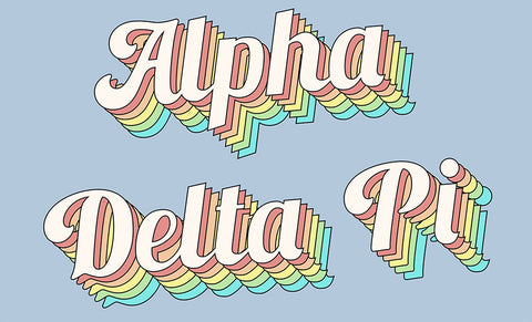 Alpha Delta Pi Retro Flag