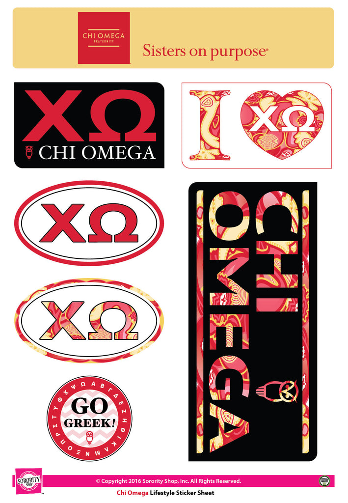 Chi Omega <br> Lifestyle Stickers