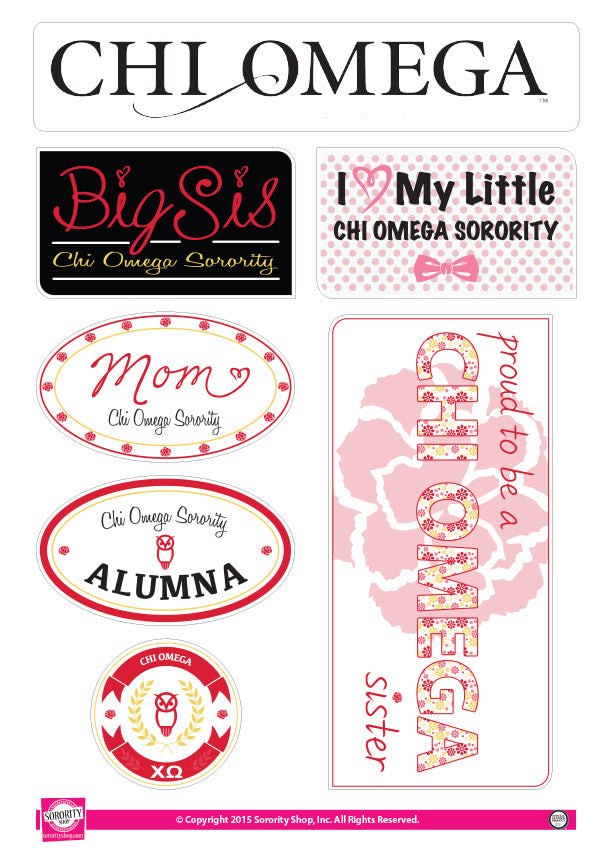 Chi Omega <br> Family Stickers