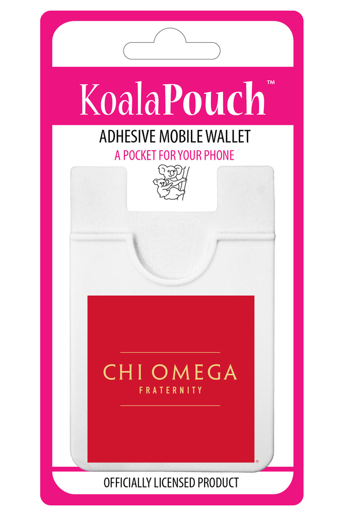 Chi Omega Adhesive Wallet - Koala Pouch