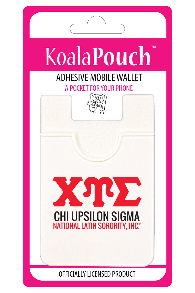 Chi Upsilon Sigma <br> Koala Pouch<br>Adhesive wallet for your phone
