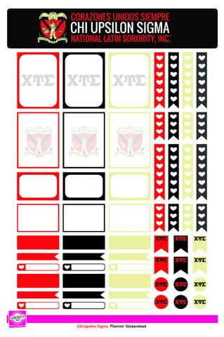 Chi Upsilon Sigma <br> Day-Planner Stickers